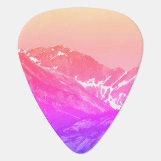 Pink Summer Mountains Guitar Pick