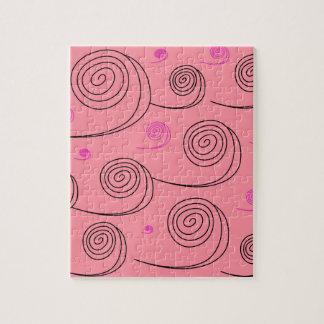 Pink summer spirals Art Collection 2017 Puzzle