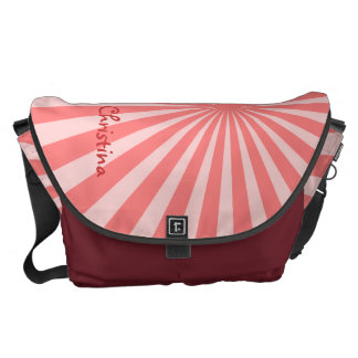 "Pink Sunburst ""Add Your Name"" Courier Bag"