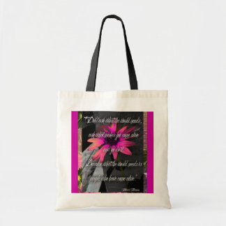 Pink Sunflower Bag, w/ inspirational quote Budget Tote Bag