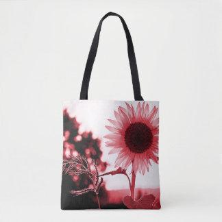 Pink sunflower cross body bag