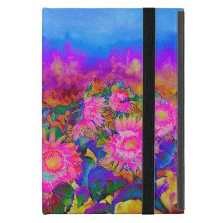 Pink Sunflower Fields iPad Mini Case