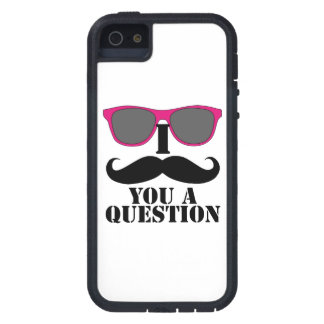 Pink Sunglasses and I Moustache You a Question Case For The iPhone 5