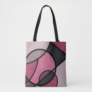Pink Sunrise , abstract Tote Bag