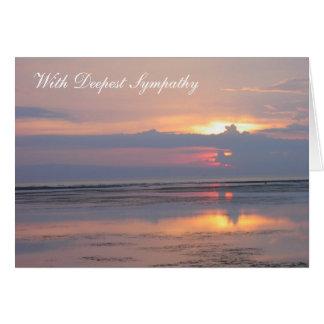 Pink Sunrise Sympathy Card