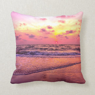 Pink Sunset Beach Naples, Florida Pillow