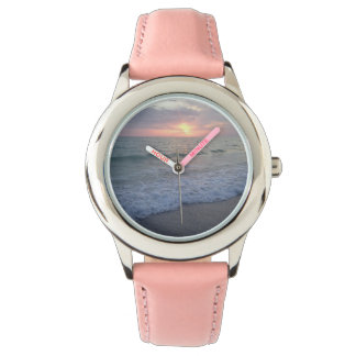 Pink Sunset Beach Watch