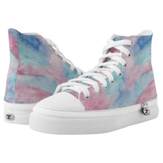 Pink Sunset Glass Hi Top Printed Shoes