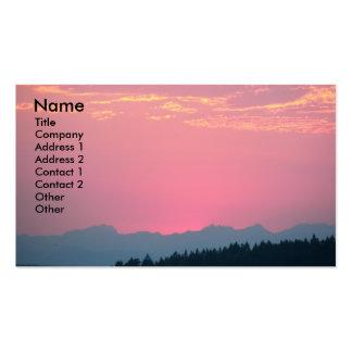 Pink Sunset Landscape Photo Business Card