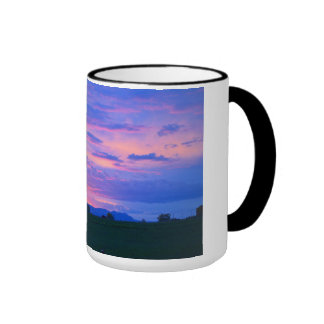 Pink Sunset Ringer Mug