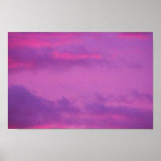 Pink Sunset Sky, Ohio. Poster