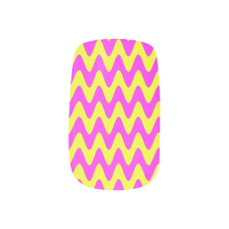 Pink Sunshine Waves Nail Stickers
