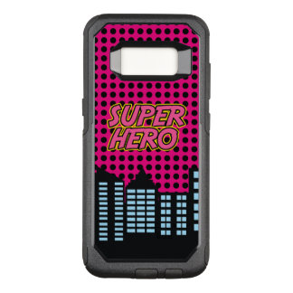 Pink Super Hero OtterBox Commuter Samsung Galaxy S8 Case