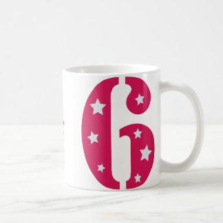 Pink Superstar 6 Birthday Mug