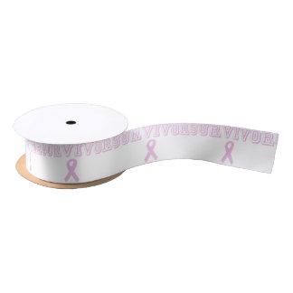 Pink Survivor Satin Ribbon