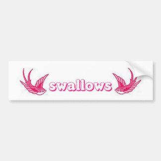 pink swallows bumper sticker