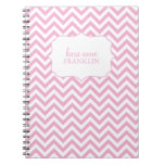 Pink Sweet Chevron Personalised Spiral Note Book