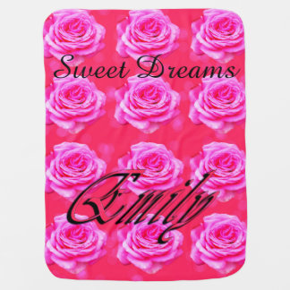 Pink Sweet Dreams Emily Logo, Baby Blanket