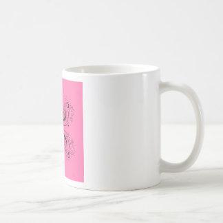 Pink sweet Mandala with Black Coffee Mug