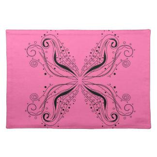 Pink sweet Mandala with Black Placemat