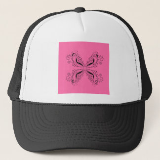 Pink sweet Mandala with Black Trucker Hat