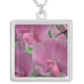 Pink Sweet Pea flowers Custom Jewelry