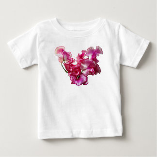 Pink Sweet Pea Heart Baby T-Shirt
