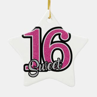 Pink Sweet Sixteen Ceramic Ornament