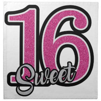 Pink Sweet Sixteen Napkin