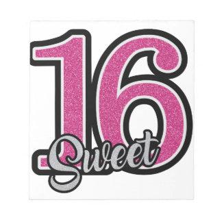 Pink Sweet Sixteen Notepad