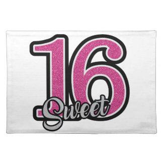 Pink Sweet Sixteen Placemat
