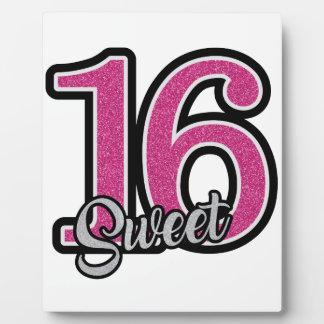 Pink Sweet Sixteen Plaque