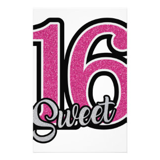 Pink Sweet Sixteen Stationery