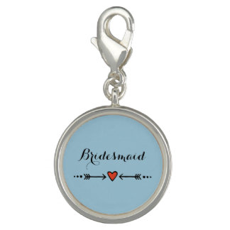Pink Sweethearts & Arrows Blue Bridesmaid's Gift