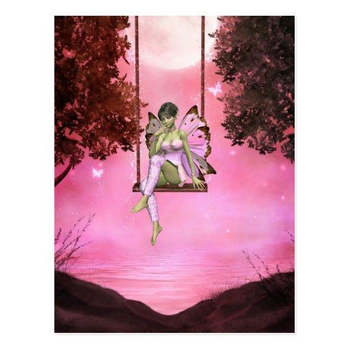 Pink Swinging Enchantments Postcard