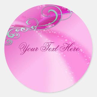 Pink Swirl Christmas Envelope Sticker/seal Round Sticker