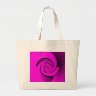 Pink Swirl Jumbo Tote Bag