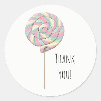 Pink Swirl Lollipop Sticker