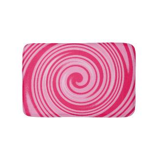 Pink swirl pattern bath mats
