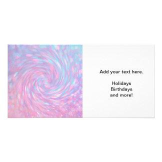 Pink Swirl Photo Card