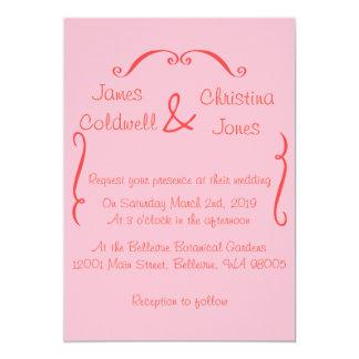 Pink Swirls Invitation
