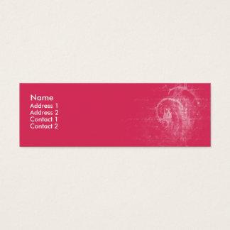 Pink Swirls - skinny Mini Business Card