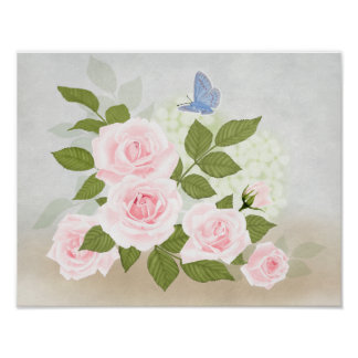 Pink Symphony-Roses Poster