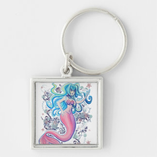 Pink Tailfin Mermaid Key Ring