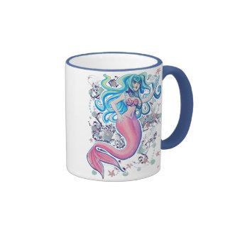 Pink Tailfin Mermaid Coffee Mugs