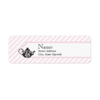 Pink Tea Return Address Label