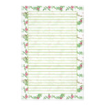 Pink Tea Rose Lined Stationery Paper