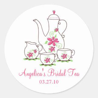 Pink Tea Set Bridal Tea Stickers