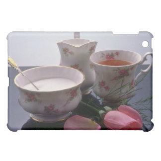 Pink Tea, sugar and milk flowers iPad Mini Covers