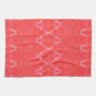 pink tea towel